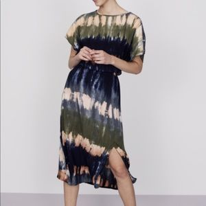 Long Tall Sally Ruby Rocks Tie Dye Midi Dress US14
